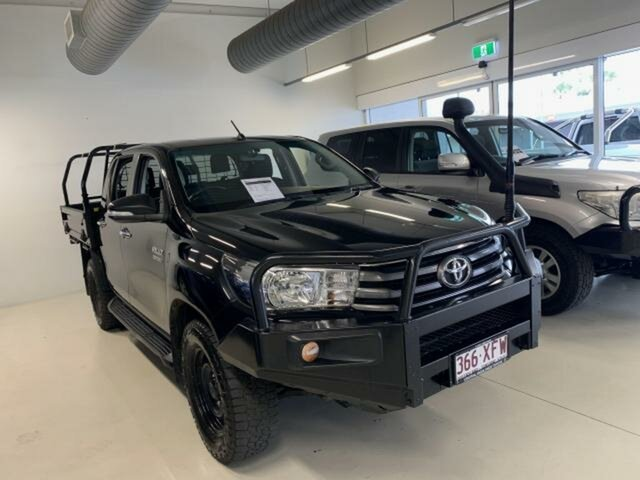 Pre-Owned Toyota Hilux GUN126R SR (4x4) Emerald, 2017 Toyota Hilux GUN126R SR (4x4) Black 6 Speed Automatic Dual Cab Chassis