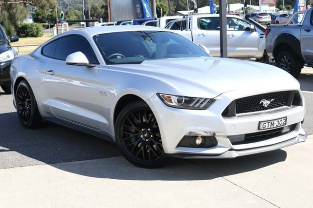 Used Ford Mustang FM 2017MY GT Fastback SelectShift West Gosford, 2017 Ford Mustang FM 2017MY GT Fastback SelectShift Silver 6 Speed Sports Automatic Fastback
