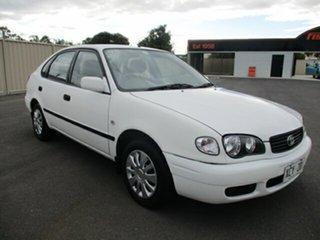 2001 Toyota Corolla AE112R Ascent White 4 Speed Automatic Liftback.