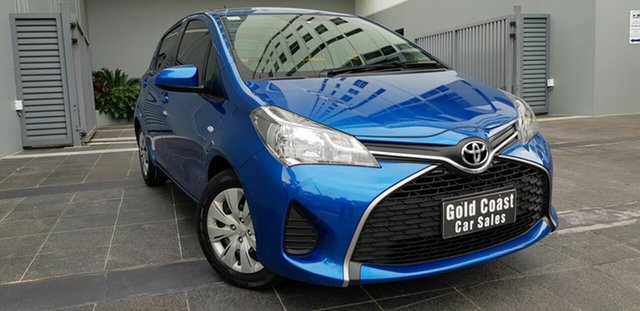 Used Toyota Yaris NCP130R MY15 Ascent Southport, 2015 Toyota Yaris NCP130R MY15 Ascent Blue 4 Speed Automatic Hatchback