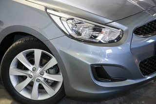 2017 Hyundai Accent RB6 MY18 Sport Silver 6 Speed Sports Automatic Sedan.