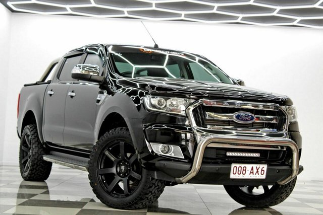 Used Ford Ranger PX MkII MY18 XLT 3.2 Hi-Rider (4x2) Burleigh Heads, 2017 Ford Ranger PX MkII MY18 XLT 3.2 Hi-Rider (4x2) Black 6 Speed Automatic Crew Cab Pickup