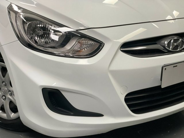Used Hyundai Accent RB2 Active Hamilton, 2014 Hyundai Accent RB2 Active White 4 Speed Sports Automatic Sedan