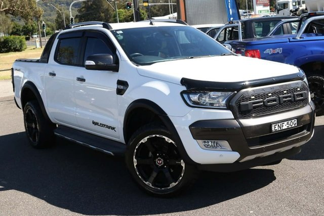 Used Ford Ranger PX MkII Wildtrak Double Cab West Gosford, 2016 Ford Ranger PX MkII Wildtrak Double Cab White 6 Speed Sports Automatic Utility