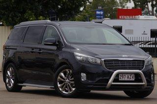 2015 Kia Carnival YP MY16 SLi Gravity Blue 6 Speed Sports Automatic Wagon.