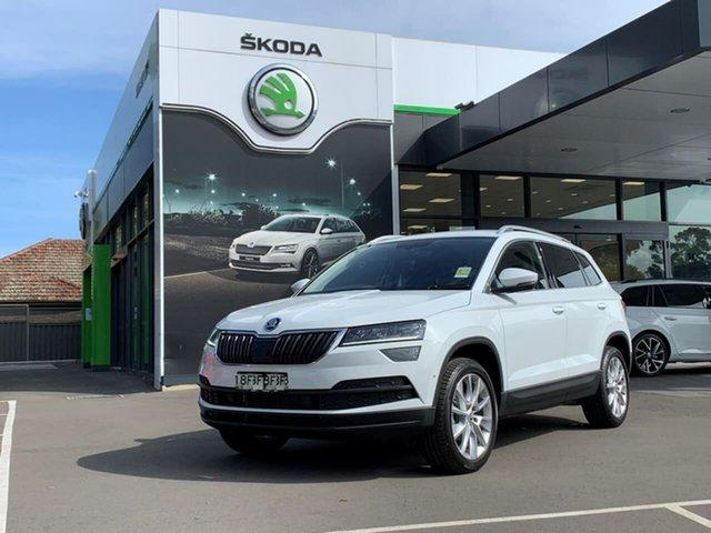 Demo Skoda Karoq NU MY21 110TSI FWD Botany, 2020 Skoda Karoq NU MY21 110TSI FWD White 8 Speed Automatic Wagon