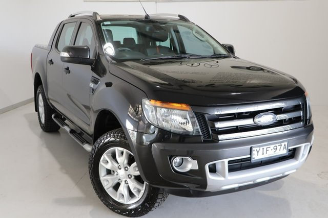 Used Ford Ranger PX Wildtrak Double Cab Wagga Wagga, 2014 Ford Ranger PX Wildtrak Double Cab Grey 6 Speed Manual Utility