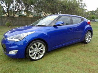 2013 Hyundai Veloster FS2 + Coupe D-CT Blue 6 Speed Sports Automatic Dual Clutch Hatchback.