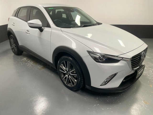 Used Mazda CX-3 DK2W7A sTouring SKYACTIV-Drive Cardiff, 2016 Mazda CX-3 DK2W7A sTouring SKYACTIV-Drive White 6 Speed Sports Automatic Wagon