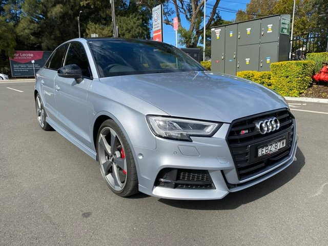 Used Audi S3 8V MY19 S Tronic Quattro Botany, 2019 Audi S3 8V MY19 S Tronic Quattro Silver 7 Speed Sports Automatic Dual Clutch Sedan