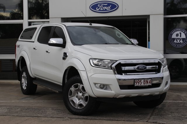 Used Ford Ranger PX MkII XLT Double Cab Beaudesert, 2016 Ford Ranger PX MkII XLT Double Cab Cool White 6 Speed Sports Automatic Utility