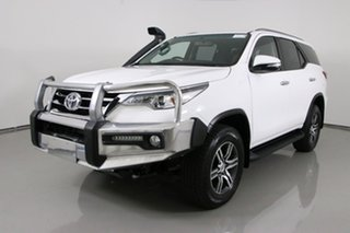 2016 Toyota Fortuner GUN156R GXL White 6 Speed Automatic Wagon.