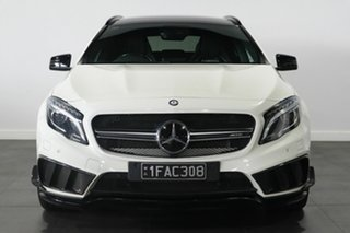 2014 Mercedes-Benz GLA-Class X156 805+055MY GLA45 AMG SPEEDSHIFT DCT 4MATIC White 7 Speed.