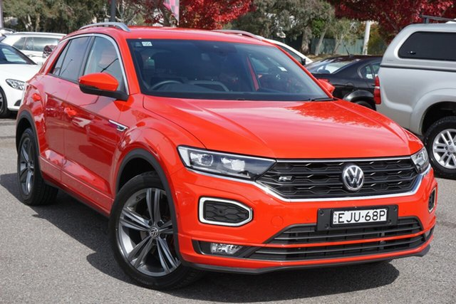 Used Volkswagen T-ROC A1 MY20 140TSI DSG 4MOTION Sport Phillip, 2020 Volkswagen T-ROC A1 MY20 140TSI DSG 4MOTION Sport Red 7 Speed Sports Automatic Dual Clutch