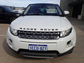 2013 Land Rover Range Rover Evoque SD4 Polar White & Black Roof 8 Speed Automatic Wagon.