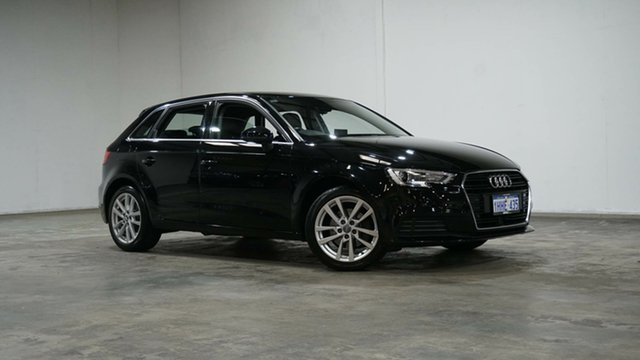 Used Audi A3 8V MY16 Attraction Sportback S Tronic Welshpool, 2016 Audi A3 8V MY16 Attraction Sportback S Tronic Black 7 Speed Sports Automatic Dual Clutch