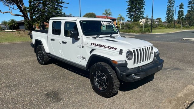 New Jeep Gladiator JT MY21 Rubicon Pick-up Port Macquarie, 2021 Jeep Gladiator JT MY21 Rubicon Pick-up Bright White 8 Speed Automatic Utility