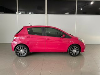 2012 Toyota Yaris NCP131R YRS Pink 4 Speed Automatic Hatchback