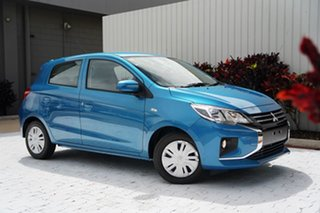 2021 Mitsubishi Mirage LB MY21 ES Cyber Blue 1 Speed Constant Variable Hatchback.