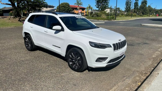 Demo Jeep Cherokee KL MY21 S-Limited Port Macquarie, 2020 Jeep Cherokee KL MY21 S-Limited Bright White 9 Speed Sports Automatic Wagon