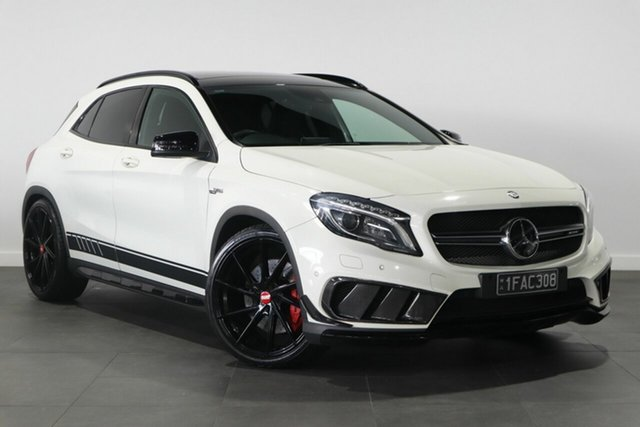 Used Mercedes-Benz GLA-Class X156 805+055MY GLA45 AMG SPEEDSHIFT DCT 4MATIC Bayswater, 2014 Mercedes-Benz GLA-Class X156 805+055MY GLA45 AMG SPEEDSHIFT DCT 4MATIC White 7 Speed