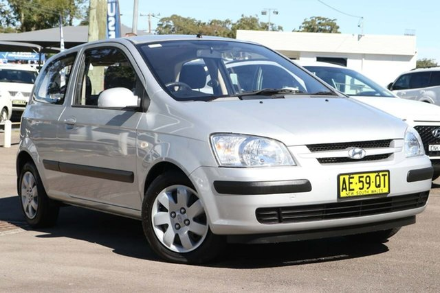 Used Hyundai Getz TB MY05 GL North Gosford, 2005 Hyundai Getz TB MY05 GL Silver 4 Speed Automatic Hatchback