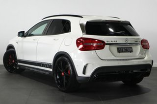 2014 Mercedes-Benz GLA-Class X156 805+055MY GLA45 AMG SPEEDSHIFT DCT 4MATIC White 7 Speed