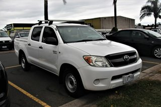 2007 Toyota Hilux GGN15R MY07 SR 4x2 White 5 Speed Automatic Utility.