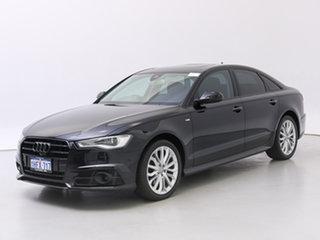 2017 Audi A6 4GL MY18 2.0 TDI Black Edition Black 7 Speed Auto Dual Clutch Sedan.
