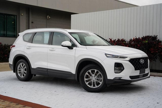 Used Hyundai Santa Fe TM MY19 Active Cairns, 2018 Hyundai Santa Fe TM MY19 Active White 8 Speed Sports Automatic Wagon