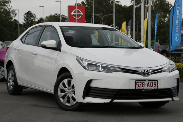 Used Toyota Corolla ZRE172R Ascent S-CVT Aspley, 2017 Toyota Corolla ZRE172R Ascent S-CVT White 7 Speed Constant Variable Sedan
