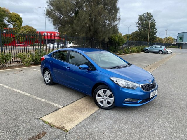 Used Kia Cerato YD MY15 S Mile End, 2014 Kia Cerato YD MY15 S Blue 6 Speed Sports Automatic Sedan