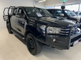 2017 Toyota Hilux GUN126R SR (4x4) Black 6 Speed Automatic Dual Cab Chassis