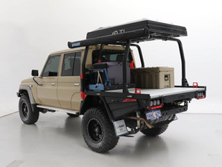2020 Toyota Landcruiser VDJ79R GXL (4x4) Sandy Taupe 5 Speed Manual Double Cab Chassis