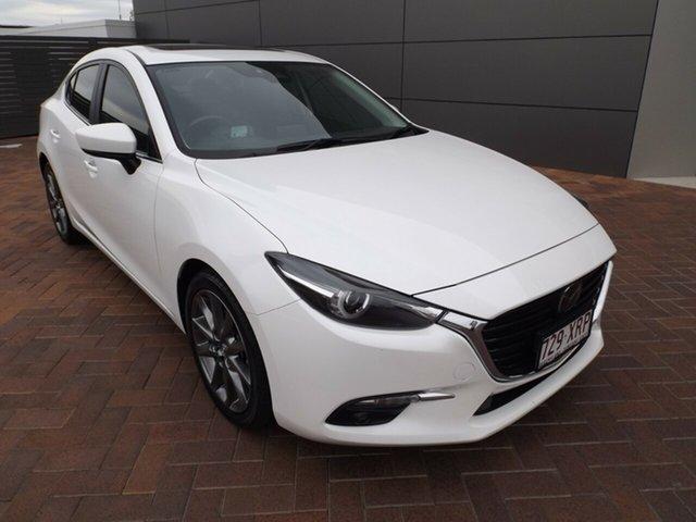 Used Mazda 3 BN5238 SP25 SKYACTIV-Drive Astina Toowoomba, 2017 Mazda 3 BN5238 SP25 SKYACTIV-Drive Astina Snowflake White 6 Speed Sports Automatic Sedan