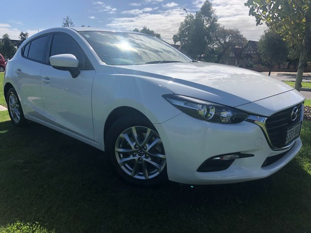 Used Mazda 3 BM5476 Neo SKYACTIV-MT Hindmarsh, 2016 Mazda 3 BM5476 Neo SKYACTIV-MT Snowflake White 6 Speed Manual Hatchback
