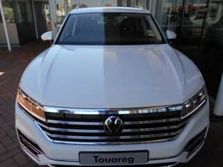 2020 Volkswagen Touareg CR MY21 170TDI Tiptronic 4MOTION Pure White 8 Speed Sports Automatic Wagon