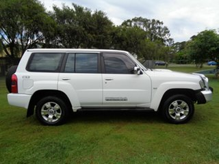 2007 Nissan Patrol GU IV MY06 ST White 4 Speed Automatic Wagon.