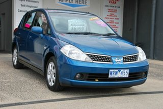 2007 Nissan Tiida C11 MY07 ST Blue 4 Speed Automatic Hatchback
