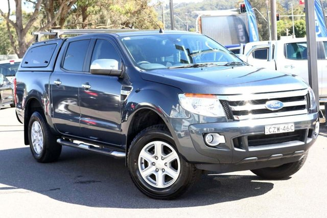 Used Ford Ranger PX XLT Double Cab West Gosford, 2015 Ford Ranger PX XLT Double Cab Grey 6 Speed Manual Utility