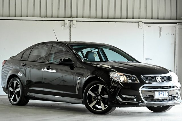 Used Holden Commodore VF II MY17 SV6 Laverton North, 2017 Holden Commodore VF II MY17 SV6 Black 6 Speed Sports Automatic Sedan