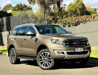 2018 Ford Everest UA II 2019.00MY Titanium Diffused Silver/leat 10 Speed Sports Automatic SUV.