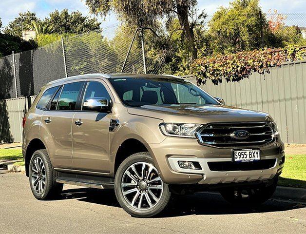 Used Ford Everest UA II 2019.00MY Titanium Hyde Park, 2018 Ford Everest UA II 2019.00MY Titanium Diffused Silver/leat 10 Speed Sports Automatic SUV