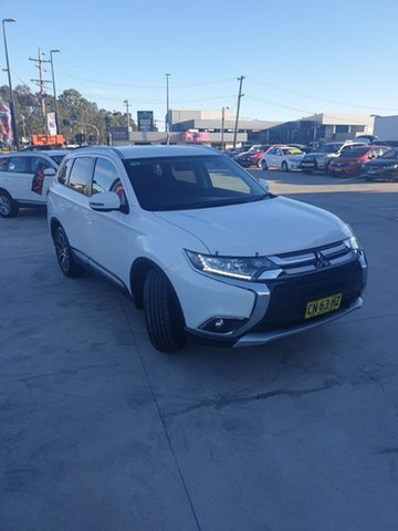 Used Mitsubishi Outlander ZK MY17 LS 4WD Liverpool, 2017 Mitsubishi Outlander ZK MY17 LS 4WD White 6 Speed Constant Variable Wagon