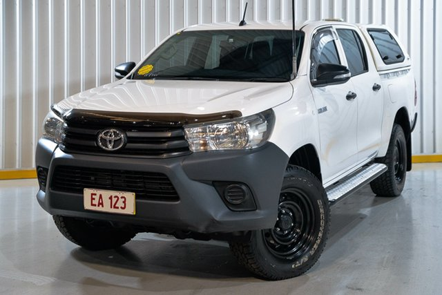Used Toyota Hilux GUN125R Workmate Double Cab Hendra, 2016 Toyota Hilux GUN125R Workmate Double Cab White 6 Speed Sports Automatic Utility