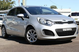 2014 Kia Rio UB MY14 S Silver 4 Speed Sports Automatic Hatchback.