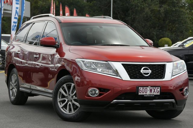 Used Nissan Pathfinder R52 MY15 ST-L X-tronic 2WD Aspley, 2016 Nissan Pathfinder R52 MY15 ST-L X-tronic 2WD Red 1 Speed Constant Variable Wagon
