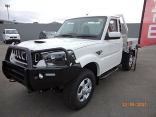 2021 Mahindra Pik-Up MY20 4WD S6+ Arctic White 6 Speed Manual Cab Chassis.