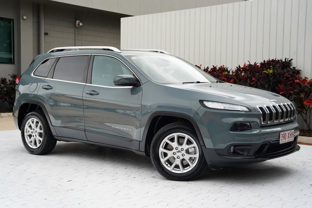 Used Jeep Cherokee KL Longitude Cairns, 2014 Jeep Cherokee KL Longitude Grey 9 Speed Sports Automatic Wagon