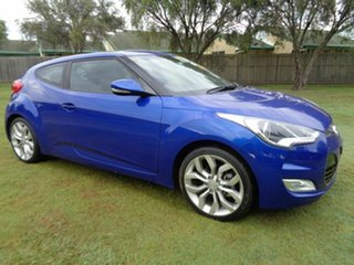 2013 Hyundai Veloster FS2 + Coupe D-CT Blue 6 Speed Sports Automatic Dual Clutch Hatchback